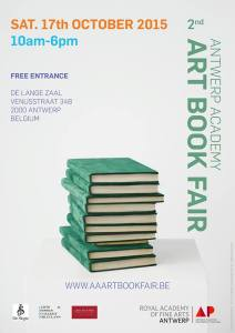 Book Fair on Saturday (pic taken from the Facebook page of Royal Academy of Fine Art Antwerp)
